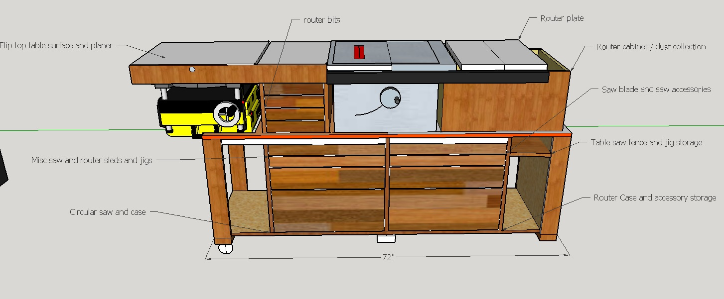 Table saw cart solve fix build there are some items that will require measurement and tweaking in real time because of uncertainties in the planer and table saw configuration greentooth Images