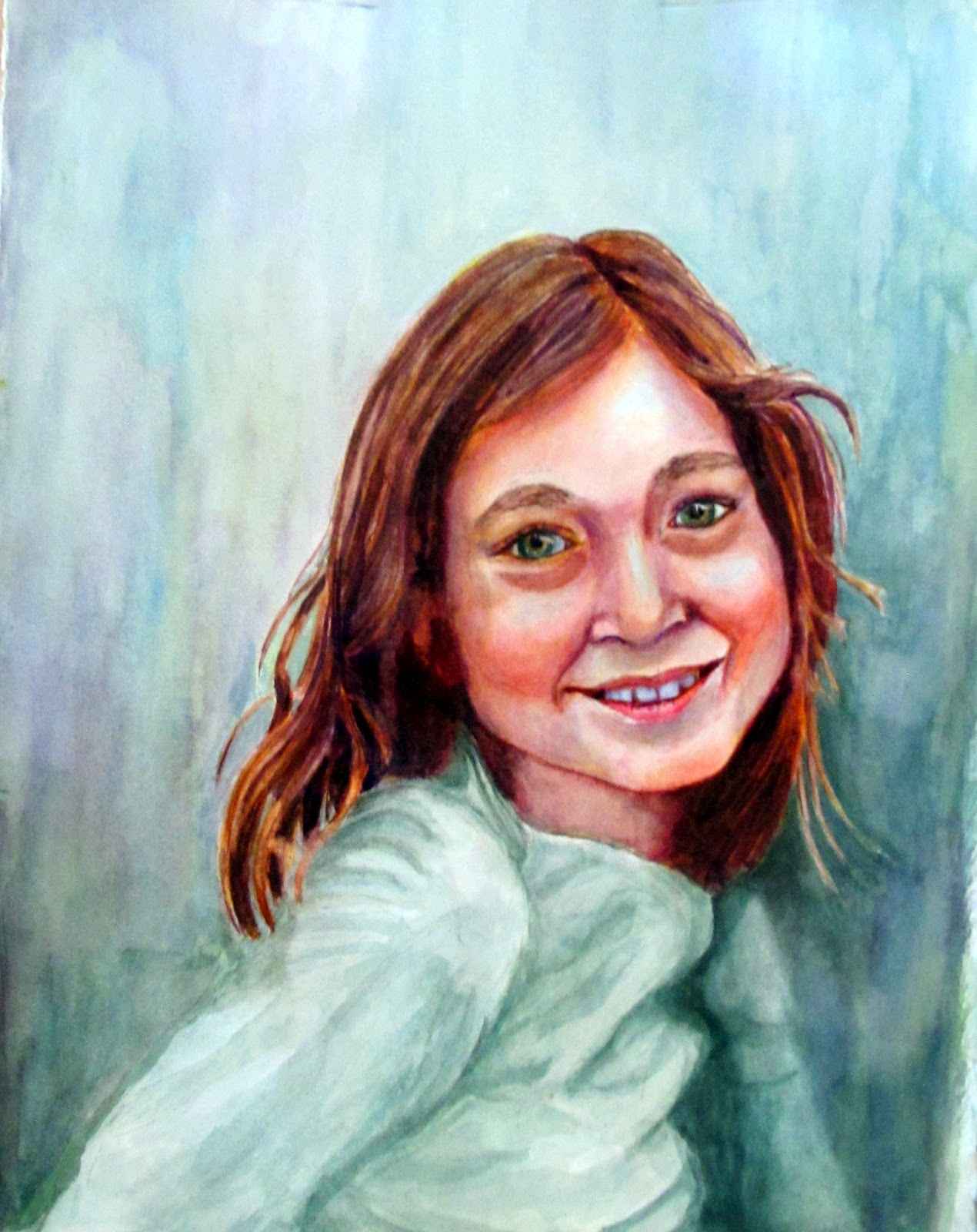 Realistic Watercolor Portraits Watercolor Portrait