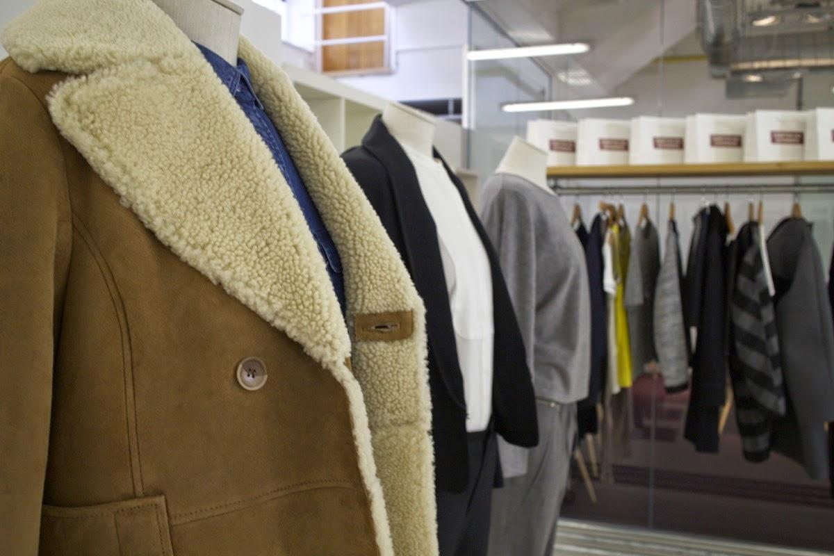 comptoir des cotonniers aw15 press day portas agency sheepskin jacket