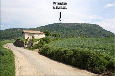 Ilarratxa visto desde Uribarri-Harana