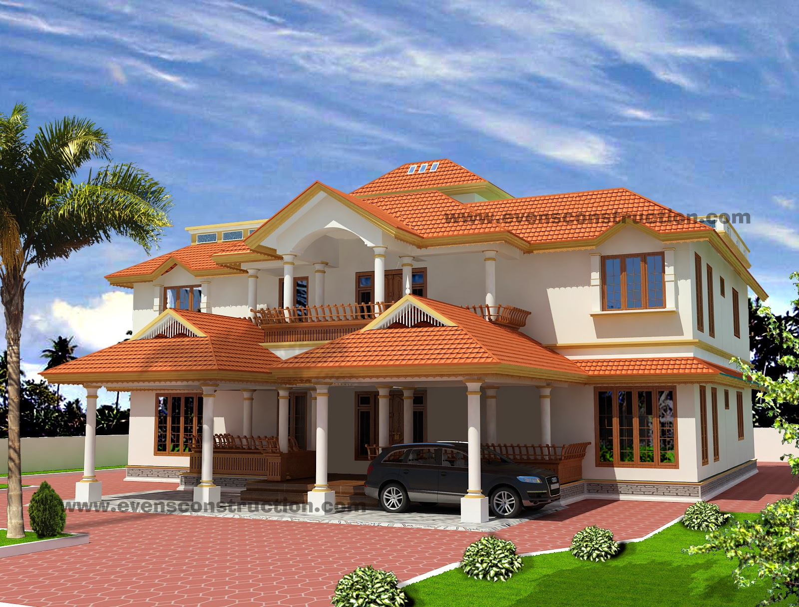 Evens Construction Pvt Ltd 3d Kerala House Designs