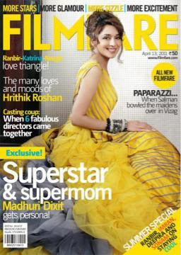 Madhuri Dixit Graces Filmfare Mag  April 2011