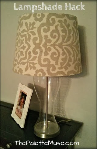 Lamp shade hack the palette muse thats the term for the bulb socket that has a little flared lip on it so a lamp shade doesnt need a harp the metal support thing that aloadofball Image collections