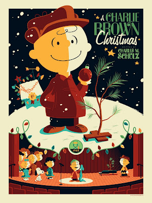Peanuts &#8220;A Charlie Brown Christmas&#8221; Standard Edition Screen Print by Tom Whalen