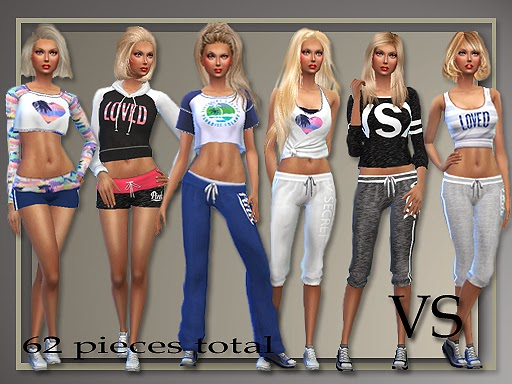 my sims 4 blog victoria secrets inspired athletic separates and