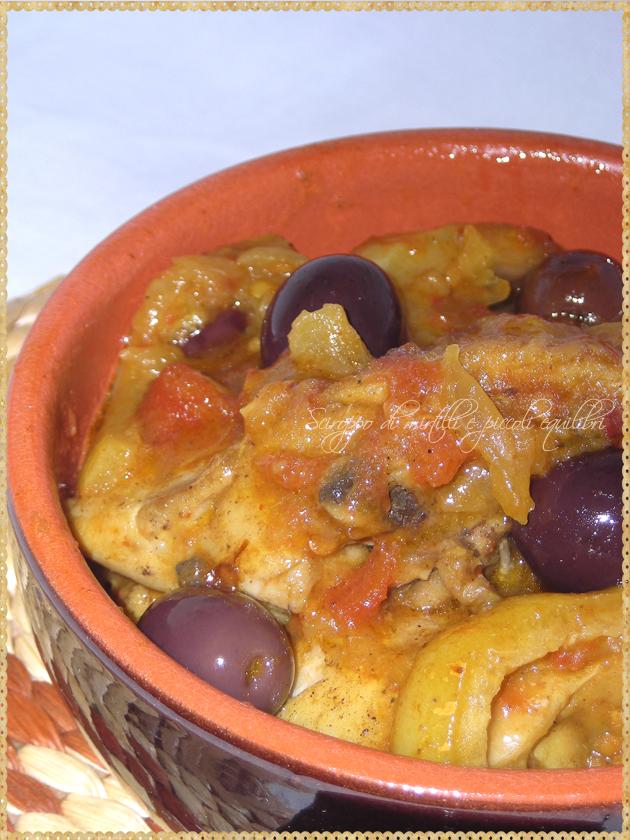 Particolare Pollo con olive e limoni