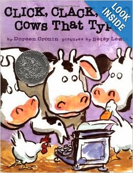 http://www.amazon.com/Click-Clack-Cows-That-Type/dp/0689832133/ref=sr_1_1?ie=UTF8&qid=1390053768&sr=8-1&keywords=clickclack+moo
