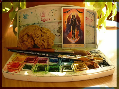 watercolors the magicien crystal visions tarot