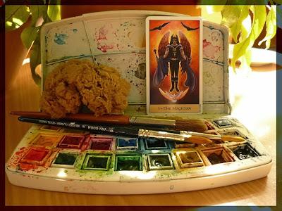 watercolors the magicien crystal visions tarot