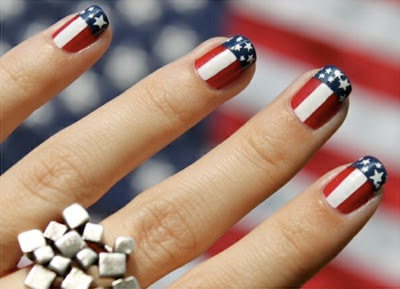 Easy red white and blue nail art best nail 2017 lush fab glam azine get patriotic with red white blue nail prinsesfo Images