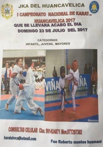 I CAMPEONATO NACIONAL DE KARATE Huancavelica-Perù