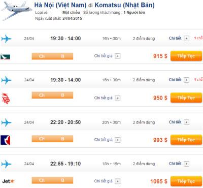 Vé máy bay đi Komatsu giá rẻ 2015_2