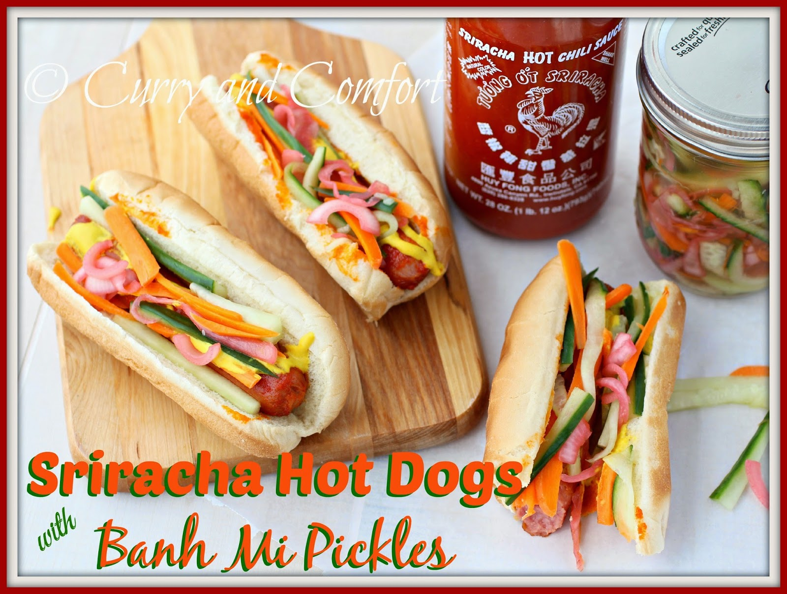 Kitchen Simmer: Sriracha Hot Dogs with Banh Mi Pickles