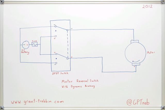 Motor Reversal Switch Dynamic Braking Wiring