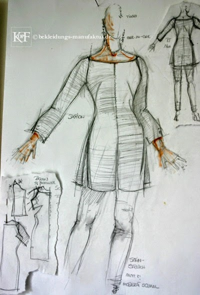 Skizzen Entwürfe © Bekleidungs-Manufaktur.de