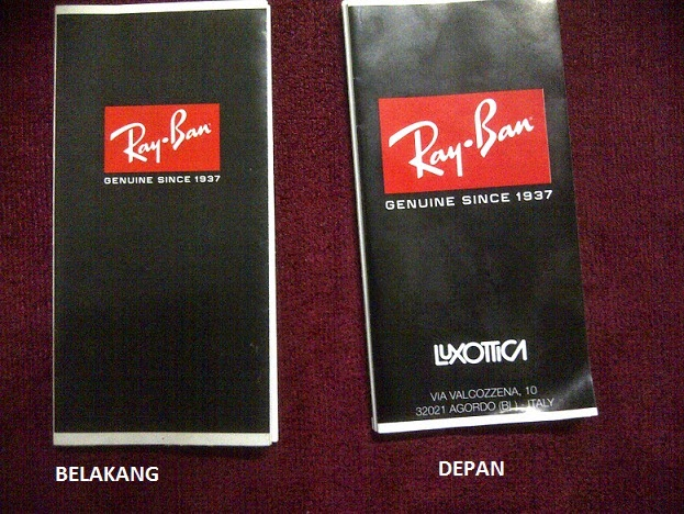 Ray Ban Booklet