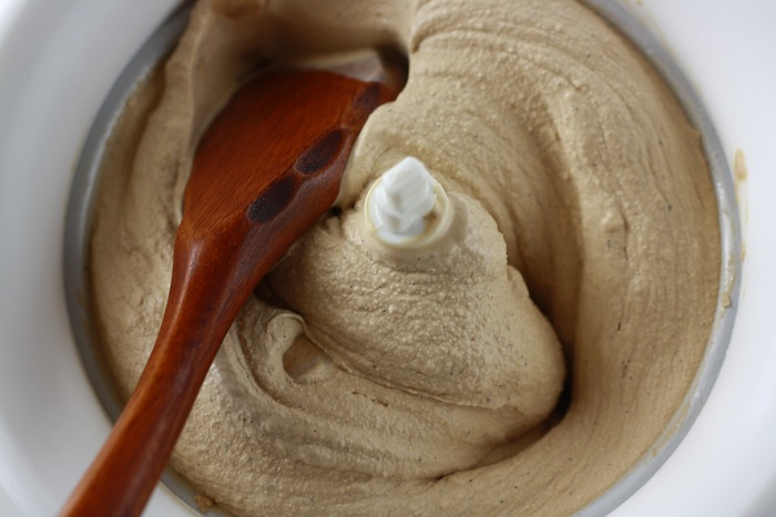 freshly churned smooth coffee ice cream