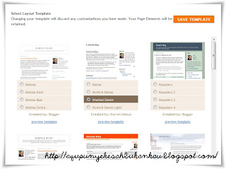 Tutorial Tukar Template Blog
