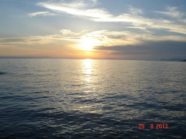 Thassos - apus de soare la Salonikios