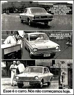 Ford, brazilian advertising cars in the 70. os anos 70. história da década de 70; Brazil in the 70s; propaganda carros anos 70; Oswaldo Hernandez;