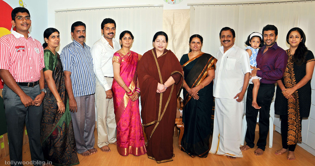 CM Jayalalitha visited Karthi house to wish |Tamil Cinema News.