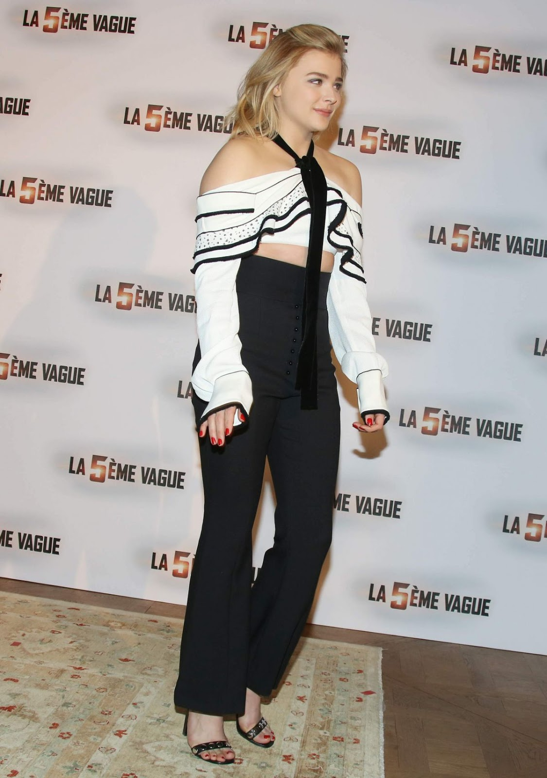 Chloe Moretz at 'The 5th Wave' Movie Paris Photocall