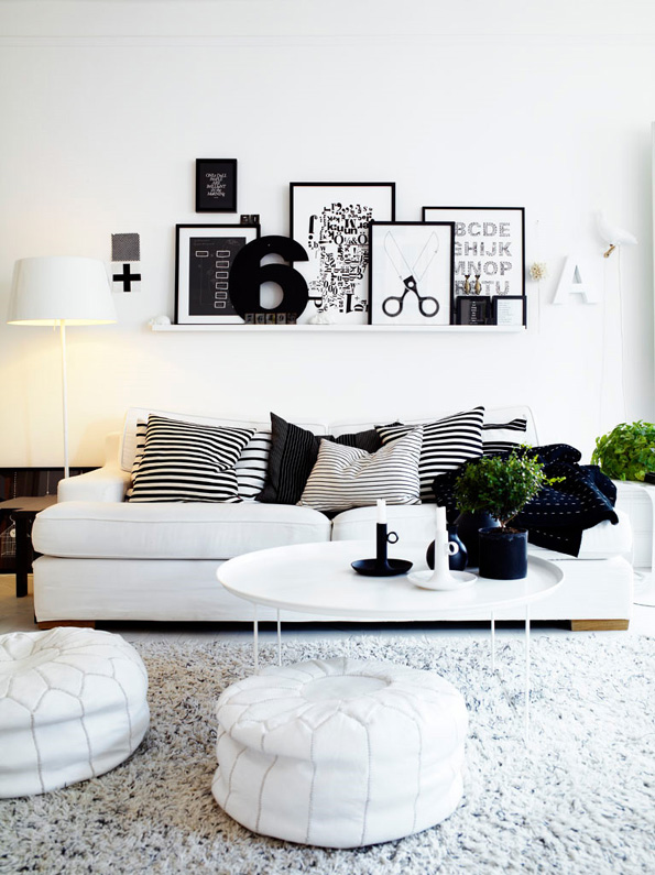 Black & White Interior Design Ideas