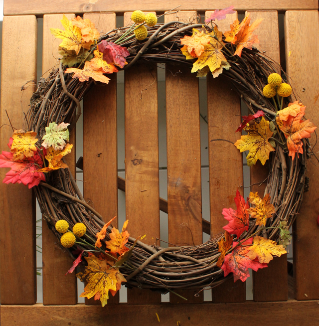 Ladyface blog fall wreath for Thanksgiving home decorations pinterest