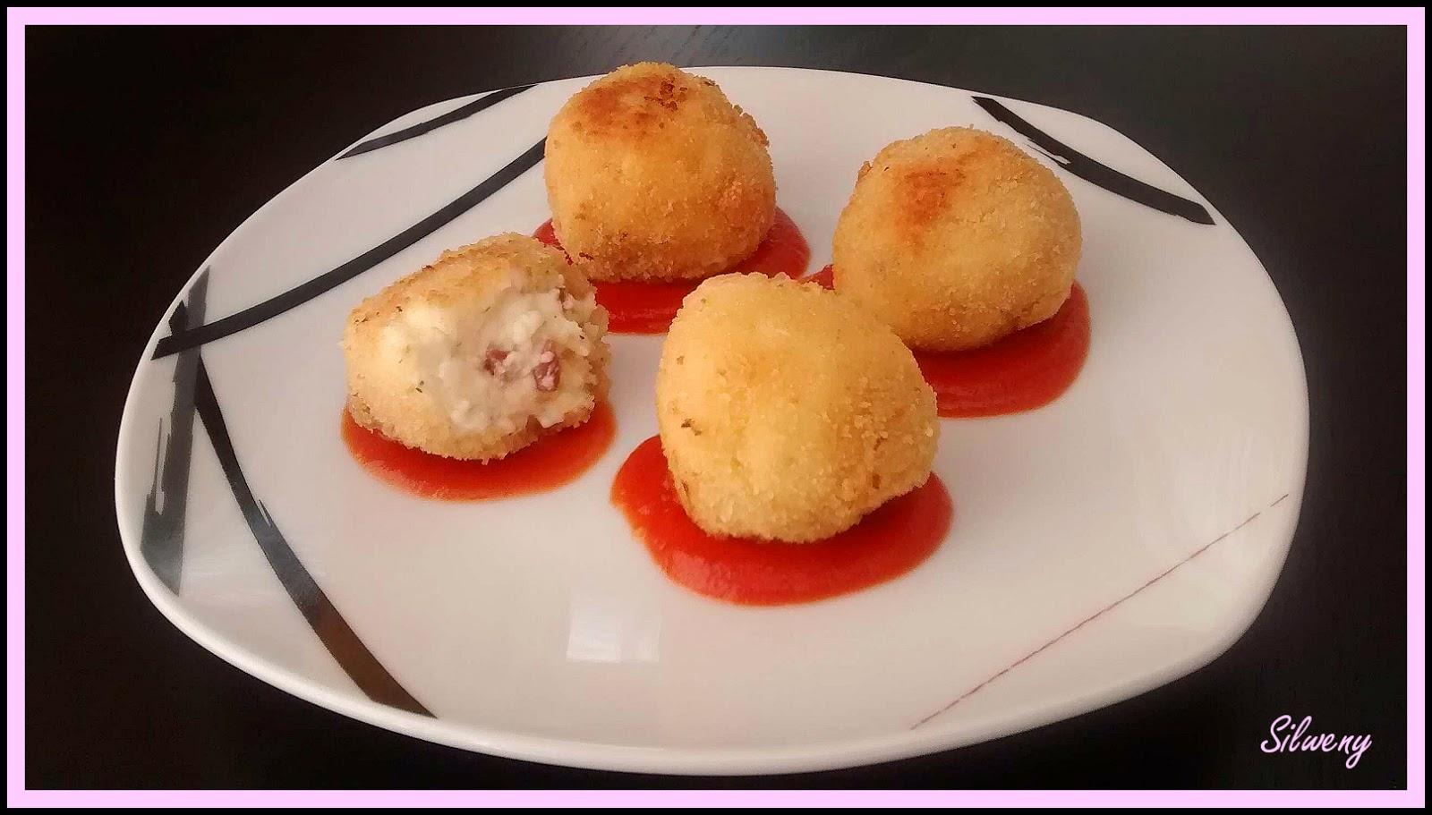 Come con silweny croquetas de jam n y queso de untar - Postres con queso de untar ...