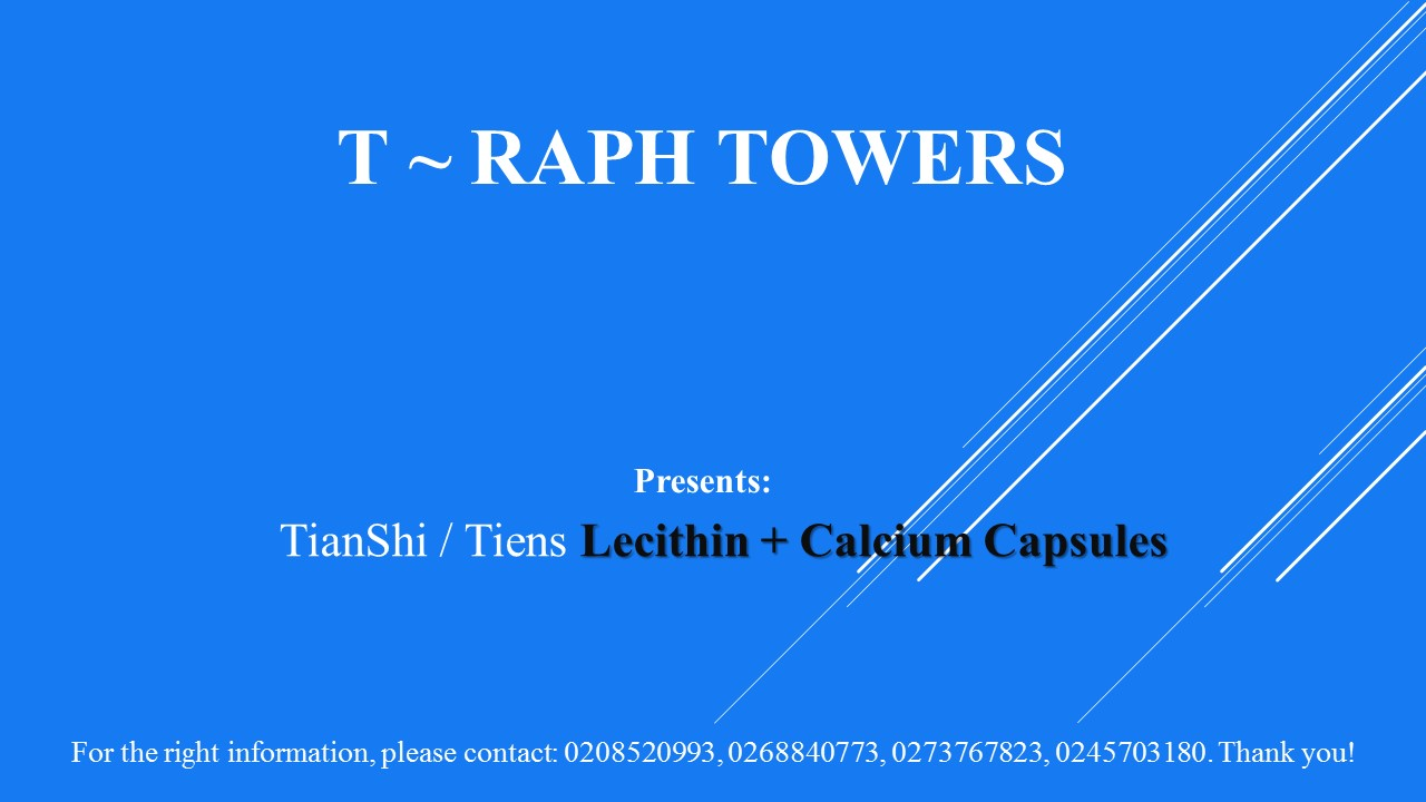 Sample Advert: T~RAPH TOWERS: +233208520993: Tema: Ghana