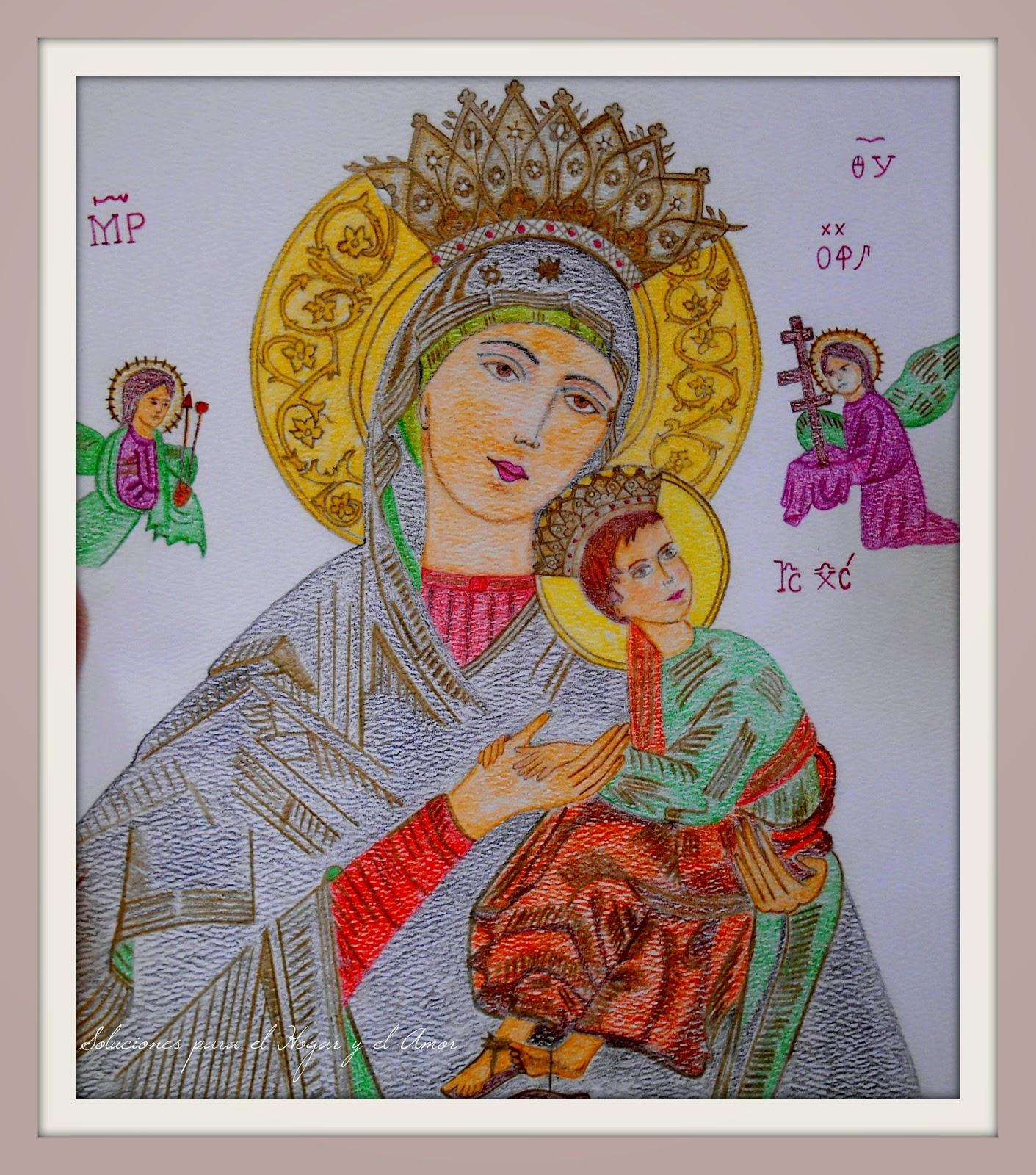 Mis Lápices y Dibujos, María del Perpetuo Socorro, Iconografía Religiosa
