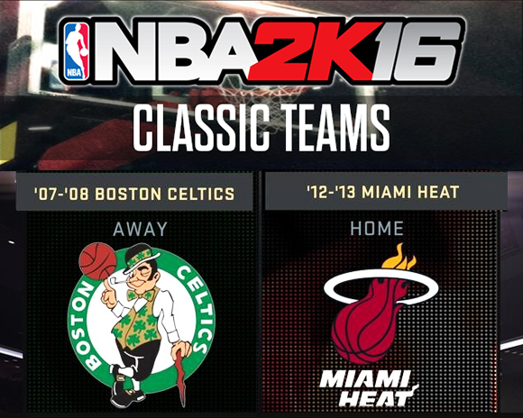 NBA 2K16 07-08 Celtics 12-13 Heat