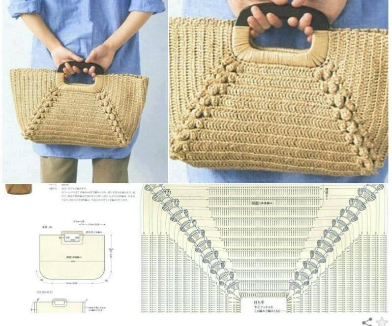 Crochet Bag Patterns Diagram : Crochet con amor