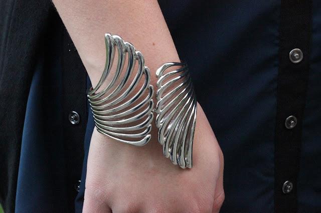 Silver Wings Cuff
