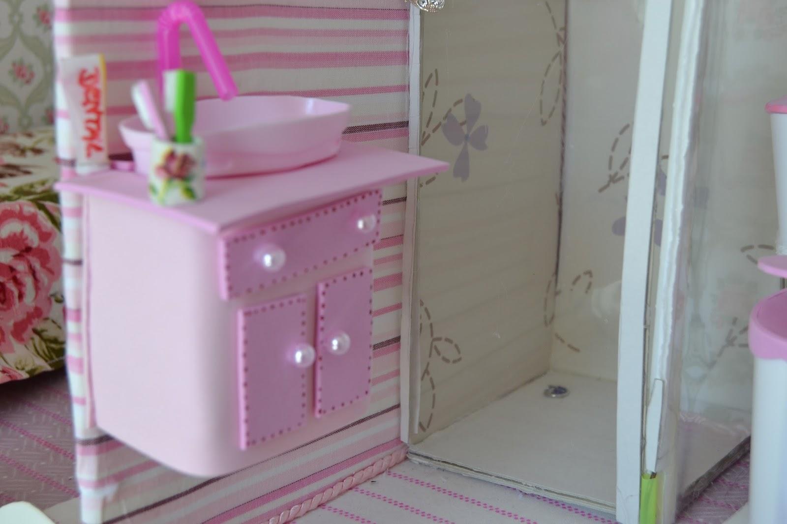 de como fazer um lavatorio pia para o banheiro da Barbie no nosso #74393E 1600x1066 Banheiro Da Barbie Para Comprar