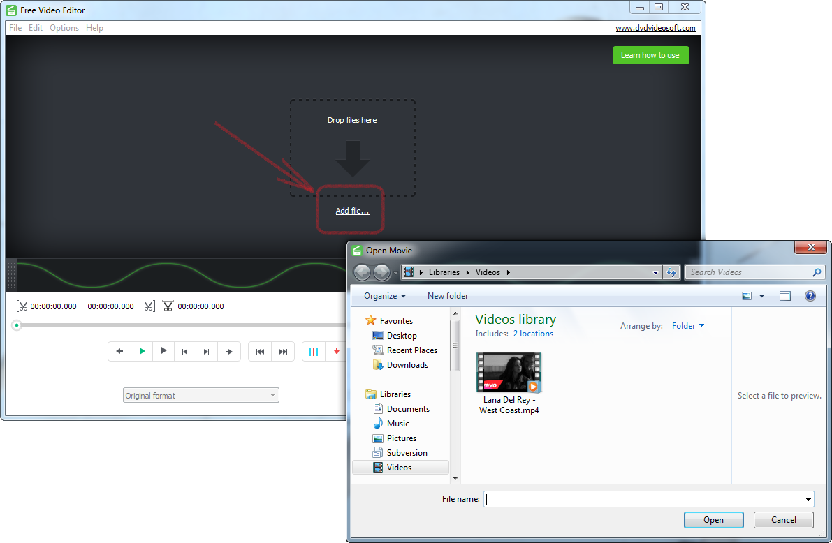 Open free video editor