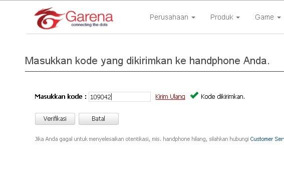 Cara Mengganti Password Garena Tanpa Nomor hape ~ JalurKutu