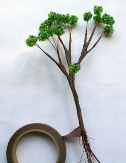 дерево из бисера бонсай