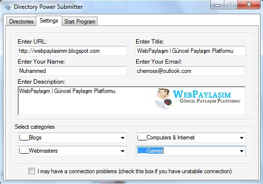 Directory Power Submitter - SEO Programı