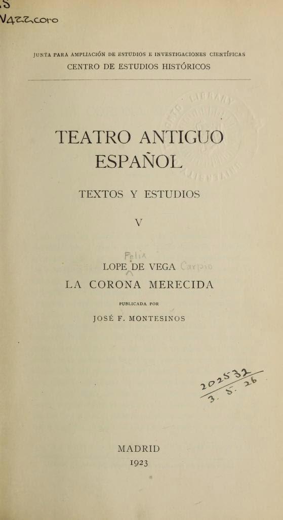Teatro Antiguo Español V
