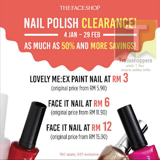 The Face Shop Nail Polish Clearance