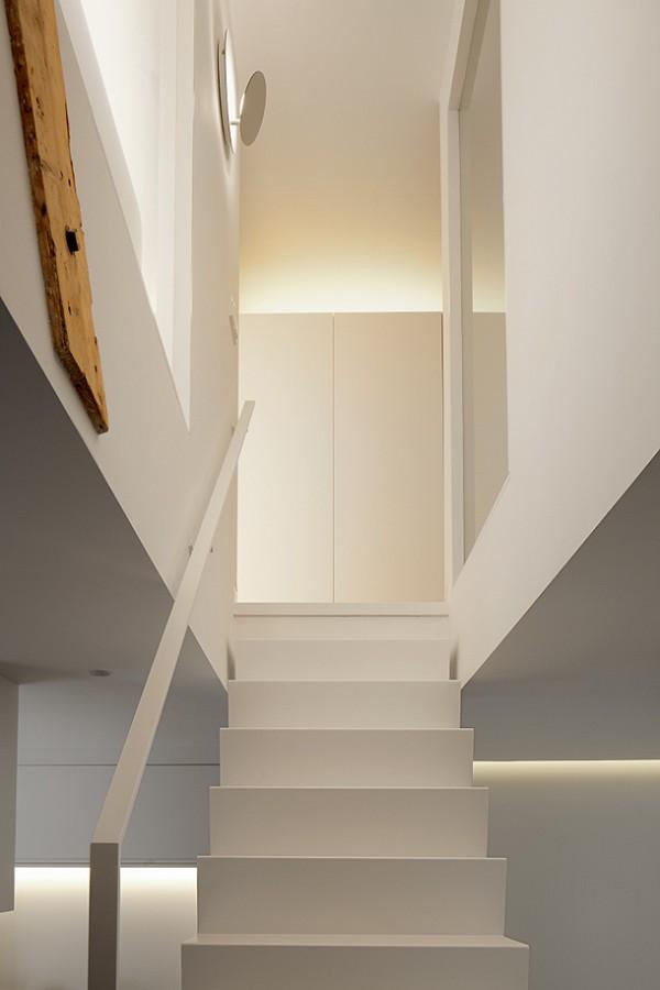 Arte y arquitectura escaleras blancas minimalistas - Escaleras blancas ...