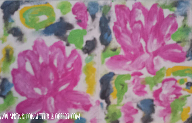 Water Lily- finger painting- write 31 days