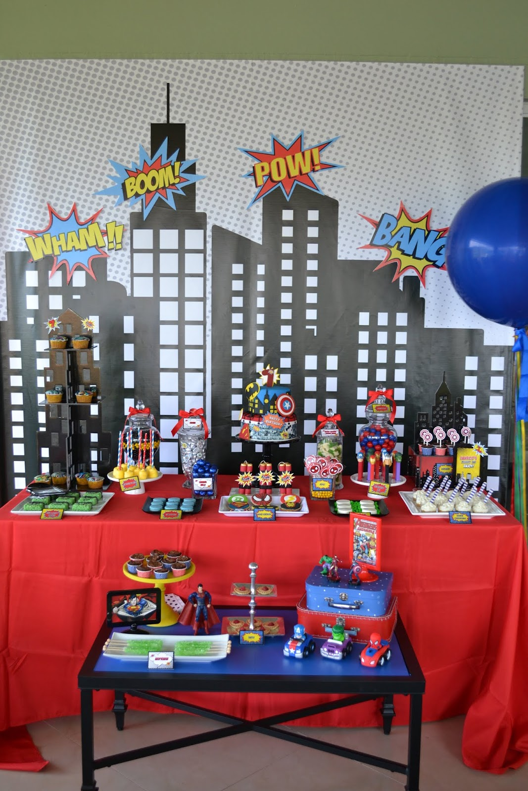 Partylicious Events Pr {superhero Party}. Red And Black Sweet 16 Decorations. Professional Decorator. Staircase Decorating Ideas Wall. Decorative Plant Pots Outdoor. Succulent Wall Decor. Wooden Living Room Furniture. China Cabinet Decorating Ideas. Room Addition Kits