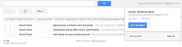 mendaftar email