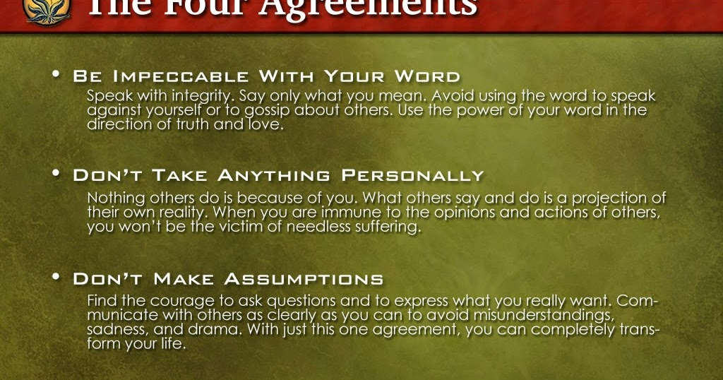 The Team Leadership Report The Four Agreements