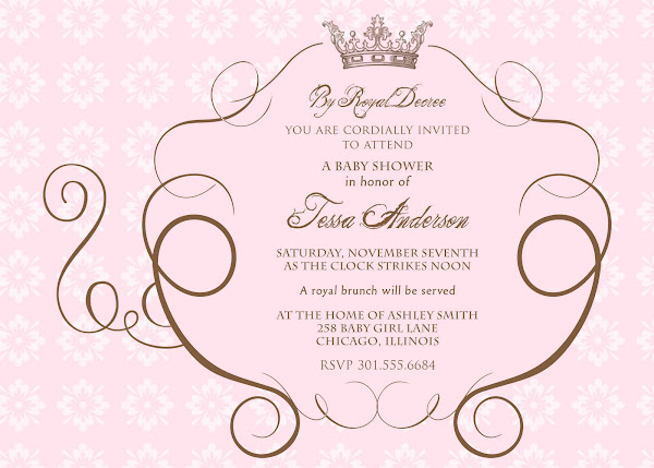 Cinderella's Royal Carriage Baby Shower Invitation