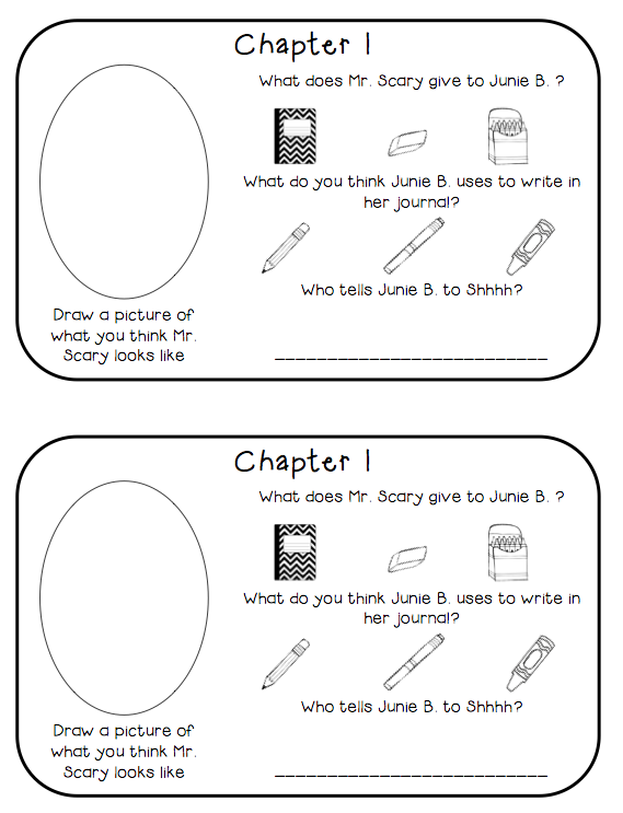 http://www.teacherspayteachers.com/Product/Junie-B-First-Grader-at-Last-Reading-Response-Journal-785075