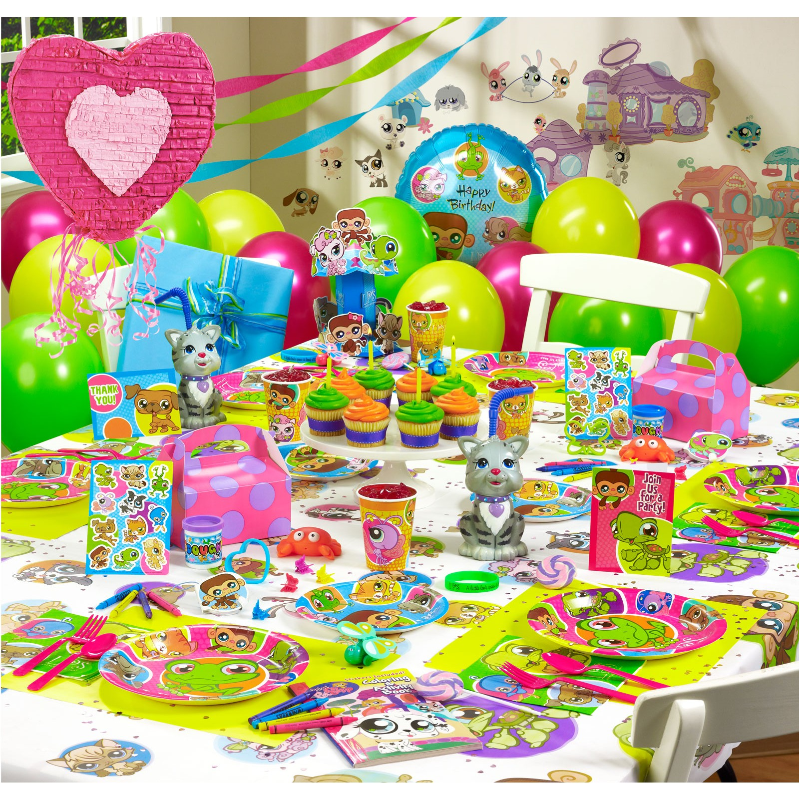 ideas de decoración de fiestas infantiles de Littlest Pet Shop