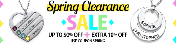 Spring Clearance Sale at MyNameNecklace